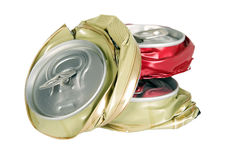 Shape from smashed cans Stock Photo