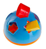 Shape Sorter. Childs toy shape sorter. On background stock photography