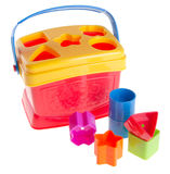 Shape Sorter. Childs toy shape sorter on a background Stock Image