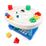 Shape Sorter. Childs toy shape sorter. On white background Stock Photography