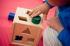 Shape sorter Stock Photos