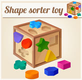 Shape sorter toy. Cartoon vector illustration Royalty Free Stock Photography
