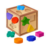 Shape sorter toy  on white background Royalty Free Stock Photography