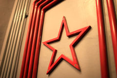 Shape of soviet union red star Royalty Free Stock Photos