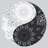 Shape of symbol yin yang Royalty Free Stock Image