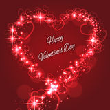 Shape Valentine's Heart with Sparkles for Love Stock Photo