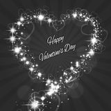 Shape Valentine's Heart with Sparkles for Love Stock Photography