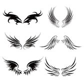 Shape of wings. Shape of birds wings, vecter icons Stock Photos