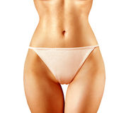 Shape of woman in panties on white Royalty Free Stock Photos