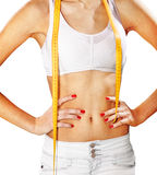 Shape of woman in white shorts Royalty Free Stock Image