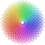 Shaped chromatic circle. Illustration of a chromatic circle shaped as a flower Vector Illustration