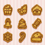 Shaped cookies for Christmas and New Year Stock Image