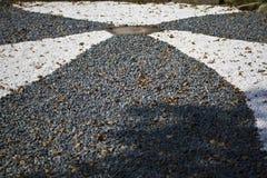 Shaped detritus. Decorated detritus on ground in shape Royalty Free Stock Photos