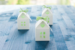 Shaped favors the house that contain confetti Royalty Free Stock Image