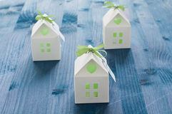 Shaped favors the house that contain confetti Royalty Free Stock Images