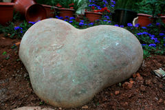 Shaped heart stone royalty free stock image