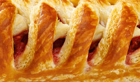 Shaped pie. Close up background Stock Images
