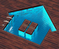 Shaped pool house Royalty Free Stock Photos