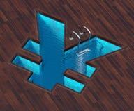 Shaped pool yen Stock Image