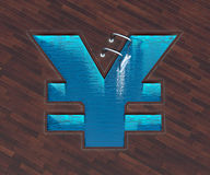 Shaped pool yen Royalty Free Stock Image