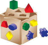 Shaped sorter toy Royalty Free Stock Image