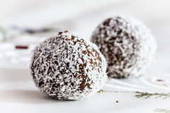 Shaped sphere chocolate sweets Royalty Free Stock Photography