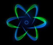 Shaped streaks of light - atomic energy Stock Image