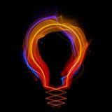 Shaped streaks of light - lamp shape Royalty Free Stock Photos