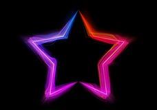 Shaped streaks of light - star shape Royalty Free Stock Photography