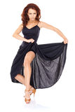 Shapely fit beautiful woman dancing Stock Photography