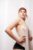 Shapely Redhead Pinup Model Royalty Free Stock Images