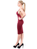 Shapely woman in profile hour glass figure Royalty Free Stock Photo