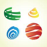 Shapes. Four color stripped shapes - illustration Royalty Free Stock Image