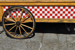 Shapes. A carriage with a lot of shapes as part of its design stock image