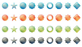 Shapes. Vector illustration of various shapes in four colors: blue, red, green and black Stock Photography