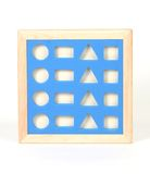 Shapes. Wooden frame of cut out shapes stock photos