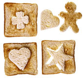 Shapes from bread Stock Photos
