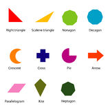 Shapes chart for kids vector Royalty Free Stock Photo