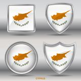 Cyprus Flag in 4 shapes collection with clipping path royalty free stock photo