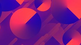 Abstract 3d rendering of colored geometric shapes. Computer generated animation. Geometric pattern. 4k UHD stock video