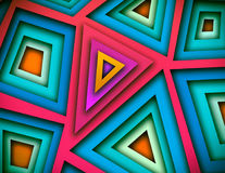 Shapes Colorful Background. Colorful and abstract background of edgy triangles Royalty Free Stock Image