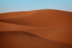Shapes of desert. Erg Chebi in Morroco. Desert on sunrise Royalty Free Stock Image