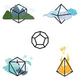 Shapes elements universe Royalty Free Stock Images