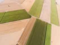 Shapes in the field, Richarville royalty free stock photo