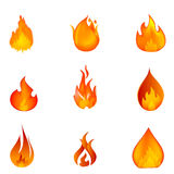 Shapes of fire Royalty Free Stock Photo