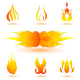 Shapes of fire Stock Image