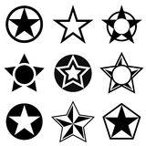 Shapes with five-pointed star Stock Photos