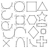 Shapes form of lines Stock Images