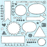 Shapes Frames Sketchy Doodle Vector Set Stock Photos