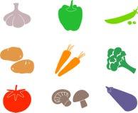 shapes grönsaken vektor illustrationer
